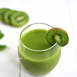 Smoothie verde de kiwi | Blog Emagrecer Certo