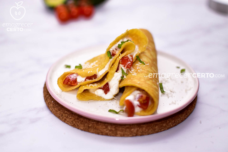 Panqueca / crepe low carb Blog Emagrecer Certo #lowcarb #receitafit #emagrecercerto