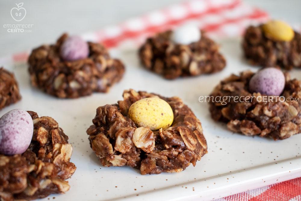 ninhos de chocolate para a páscoa