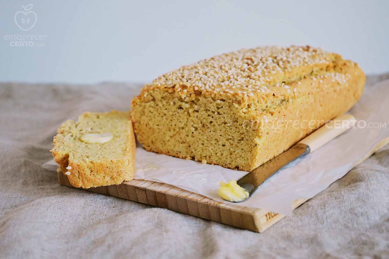 Pão de forma low carb