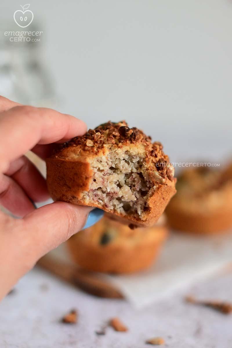 Muffin de banana e coco