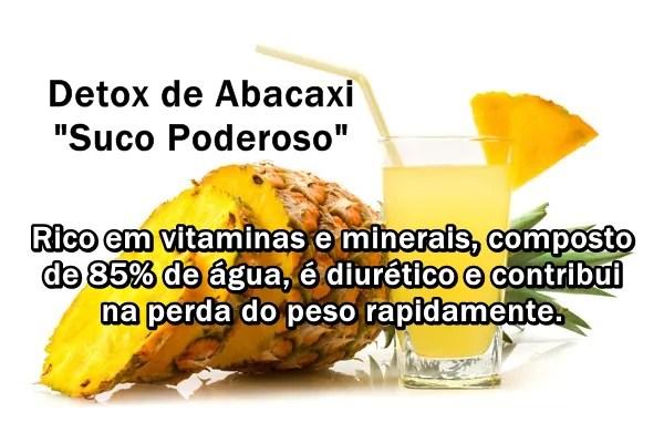 Detox de Abacaxi com hortela