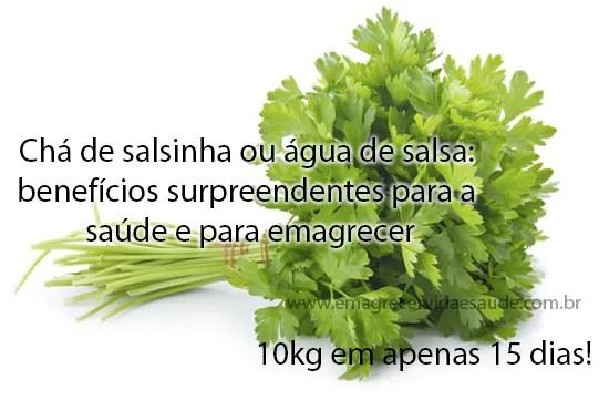 Salsinha verde beneficios para emagrecer