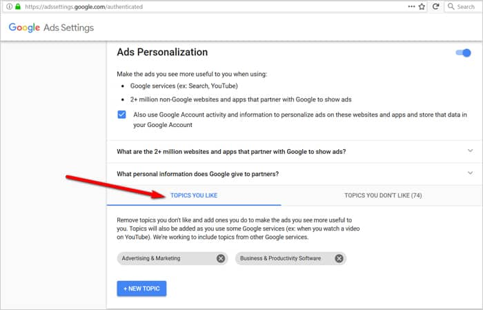 Gmail tricks and hacks - ad personalization