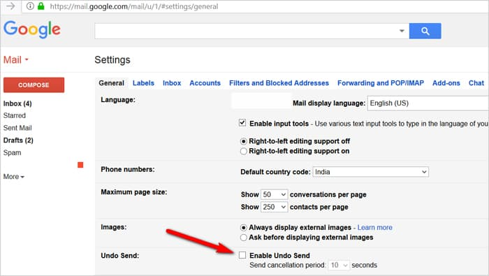 Gmail tricks and hacks - undo sent emails