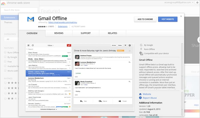 Gmail tricks and hacks - Gmail offline
