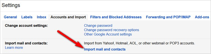 Gmail tricks and hacks - import contacts