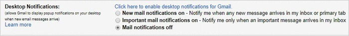 Gmail tricks and hacks - desktop notifications