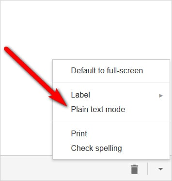 Gmail tricks and hacks - use plain text