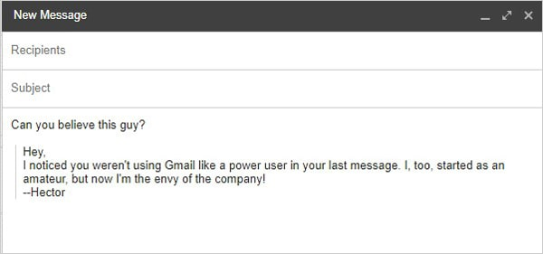 Gmail tricks and hacks - quote other emails