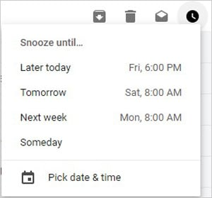 Snooze Gmail Feature