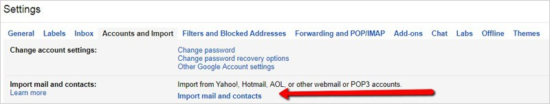 migrate email contacts gmail