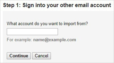 sign into other account