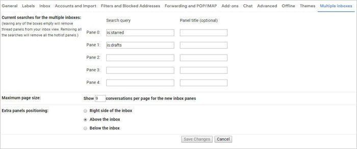 Multiple Inboxes Configuration Gmail