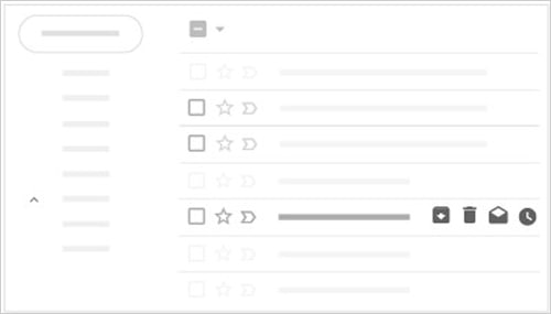 Hover Actions Gmail