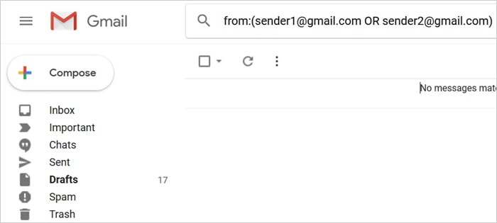 By multiple senders/recipients