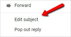 no subject email