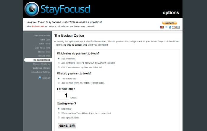 Productivity apps and tools - StayFocusd