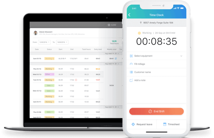 Connecteam time clock app