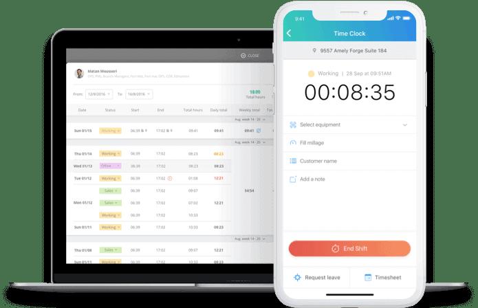 Connecteam time clock app