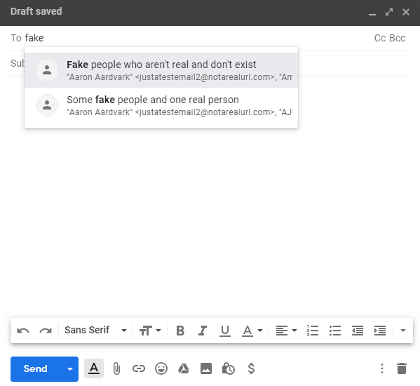 make sure gmail groups are working