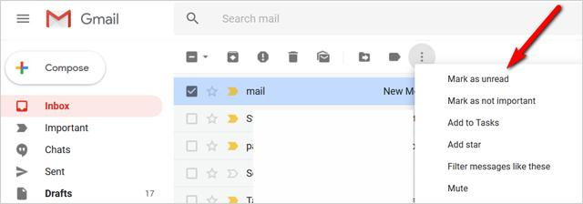 unread email