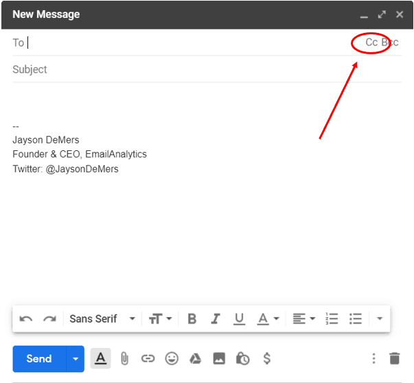 What does CC mean in email