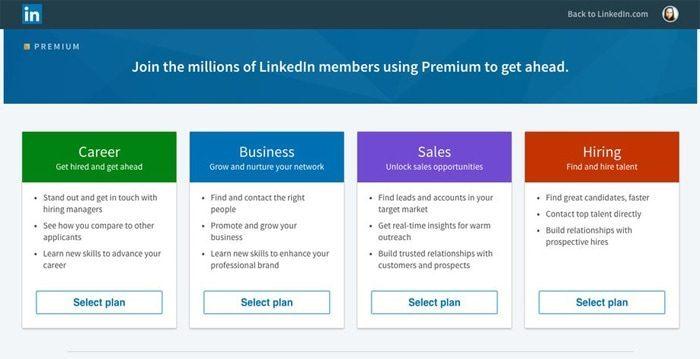 Linkedin Premium Career vs. Linkedin Premium Business