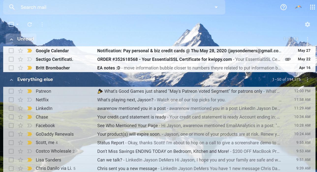 unread inbox gmail