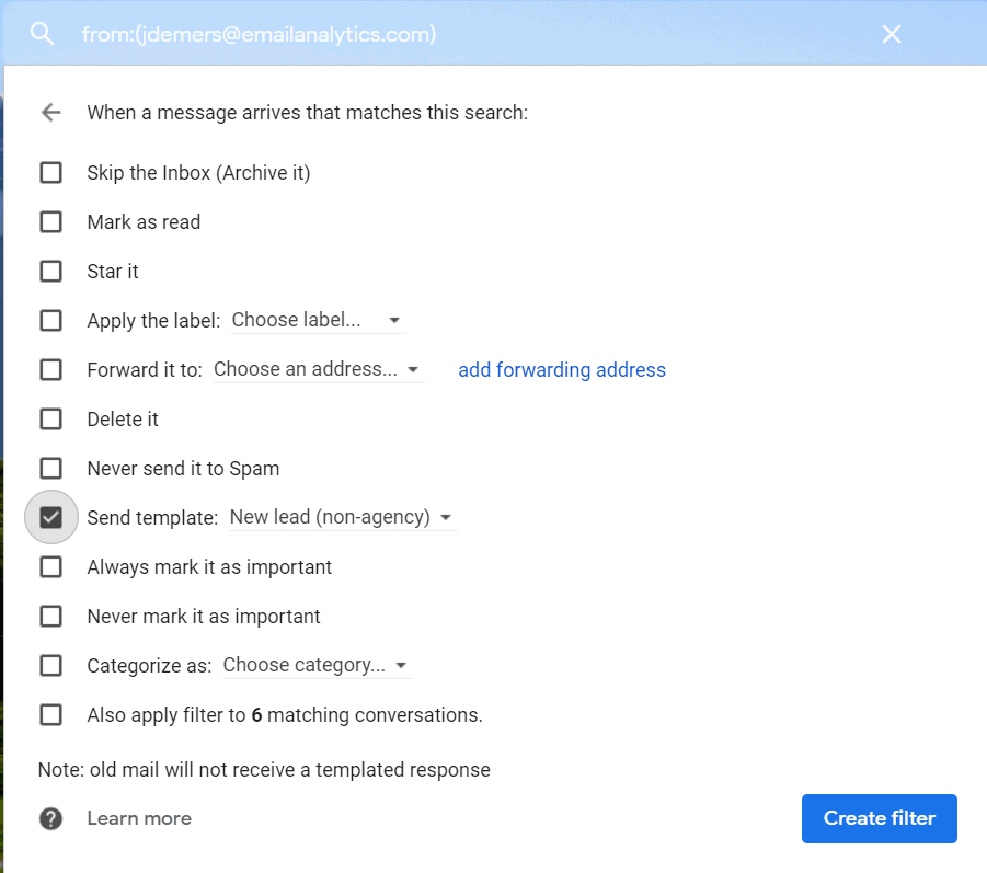 automated email response gmail