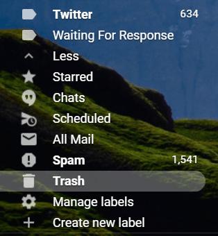 Gmail trash