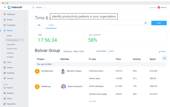 hubstaff - time tracking apps