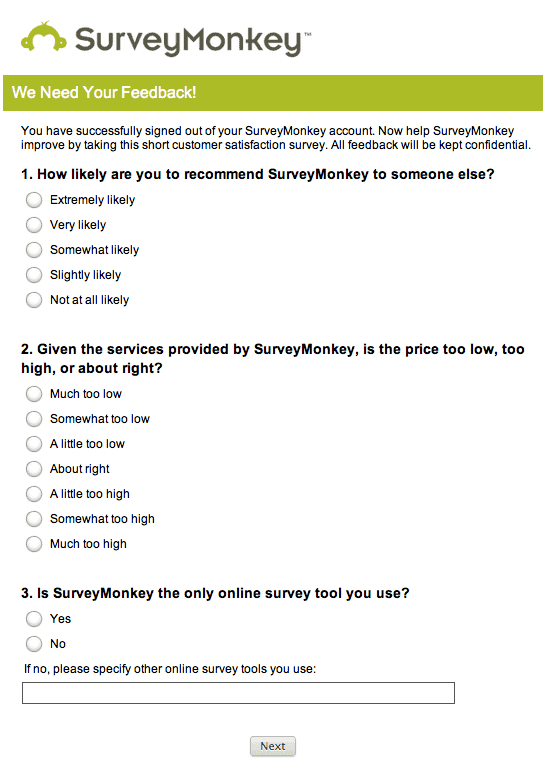 surveymonkey - customer feedback tools