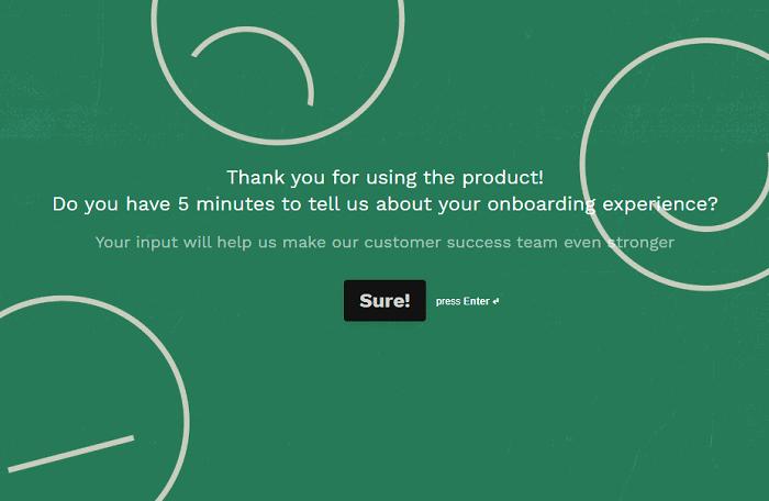 typeform - customer feedback tools