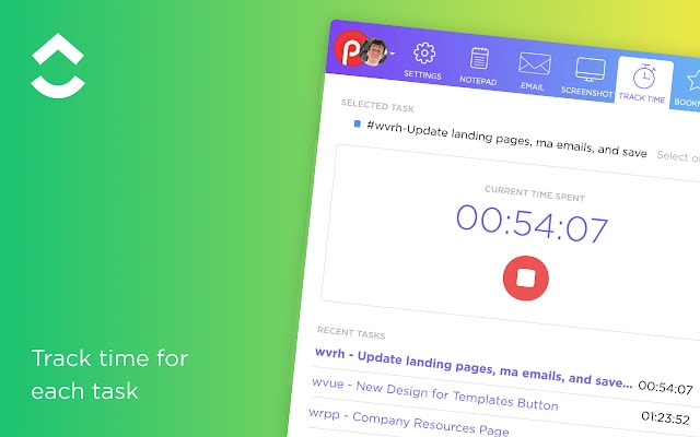 clickup chrome productivity extension