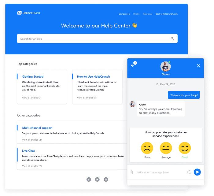 helpcrunch - customer service tools