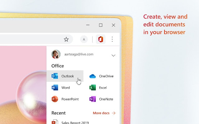 microsoft office online chrome productivity extension
