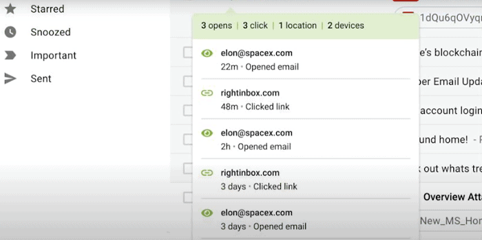 email tracking tools: rightinbox