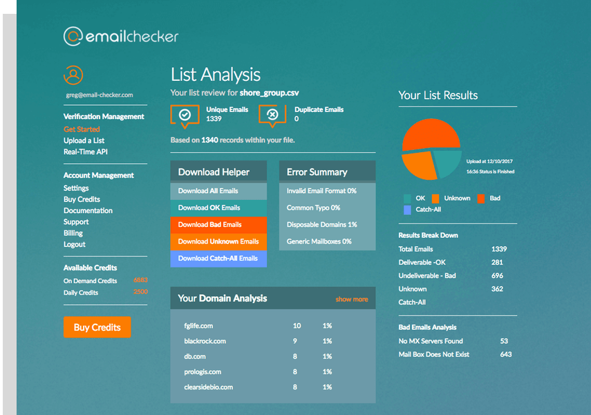 emailchecker - email validator