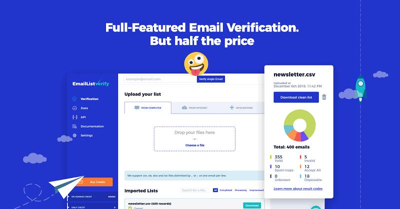 emaillistverify - email validation tool