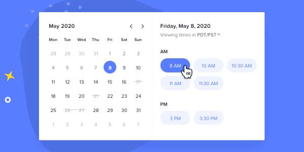 honeybook - meeting scheduler app