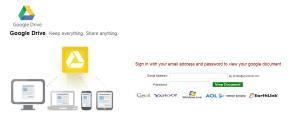 fake google drive phishing page