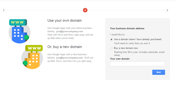 Step 2: Enter basic information about your domain