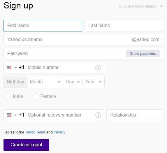 yahoomailsignup
