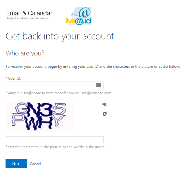 ucl email reset password