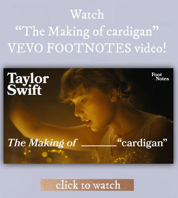 Taylor Swift Newsletter  embedded video