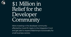 how to apply for Mailchimp developer fund
