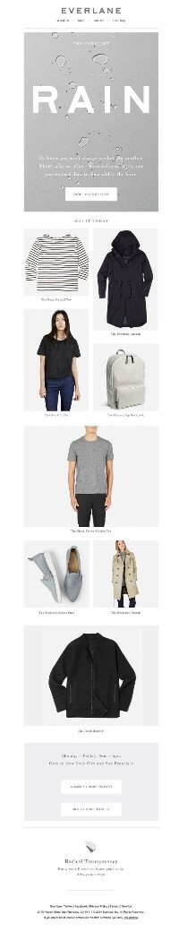 Everlane monsoon color in emails