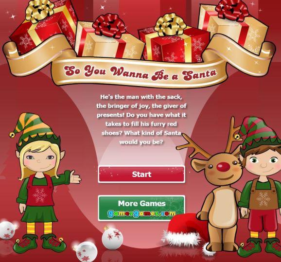 Santa quiz game