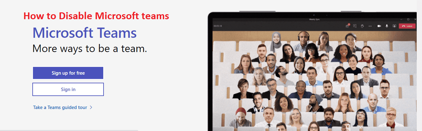 how to disable microsoft teams